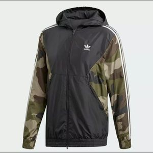 New Adidas Originals Camo Windbreaker Camo Small